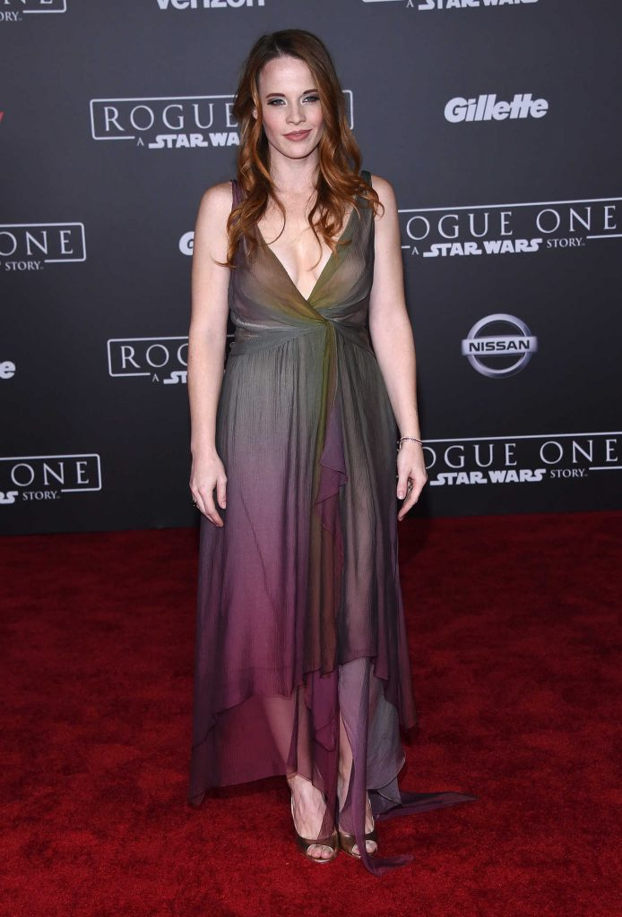Katie Leclerc at the Rogue One: A Star Wars Story Premiere at the Pantages Theater in Hollywood-2