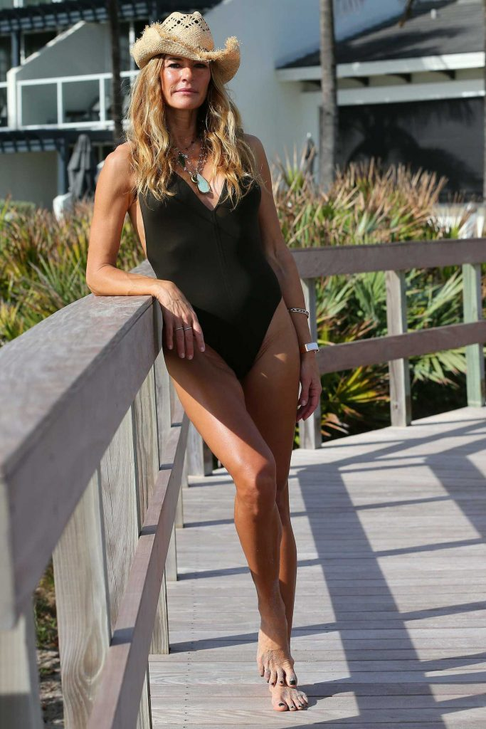 Kelly Bensimon Wearing a Swimsuit in Palm Beach-3