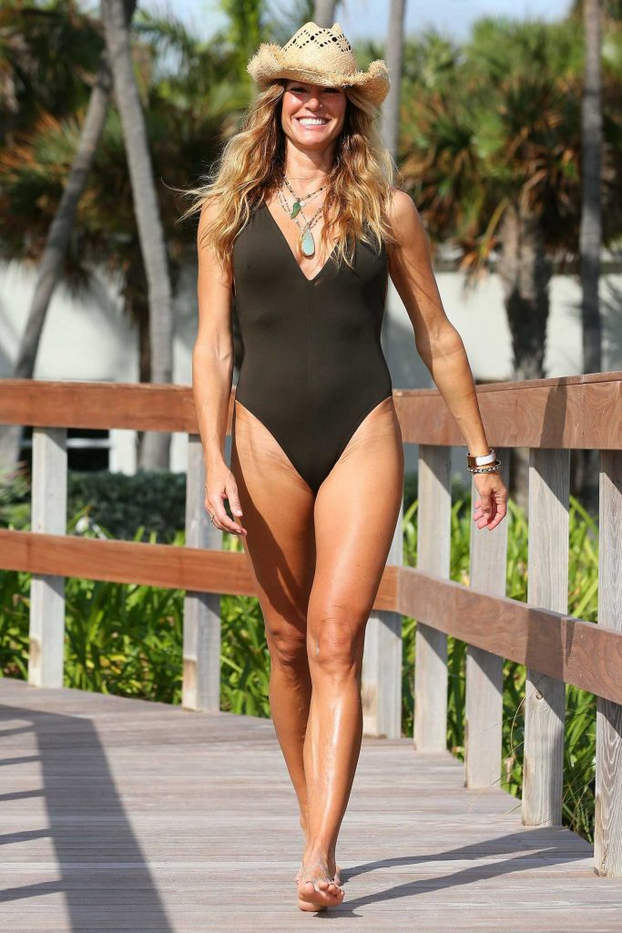 Kelly Bensimon Wearing a Swimsuit in Palm Beach-4