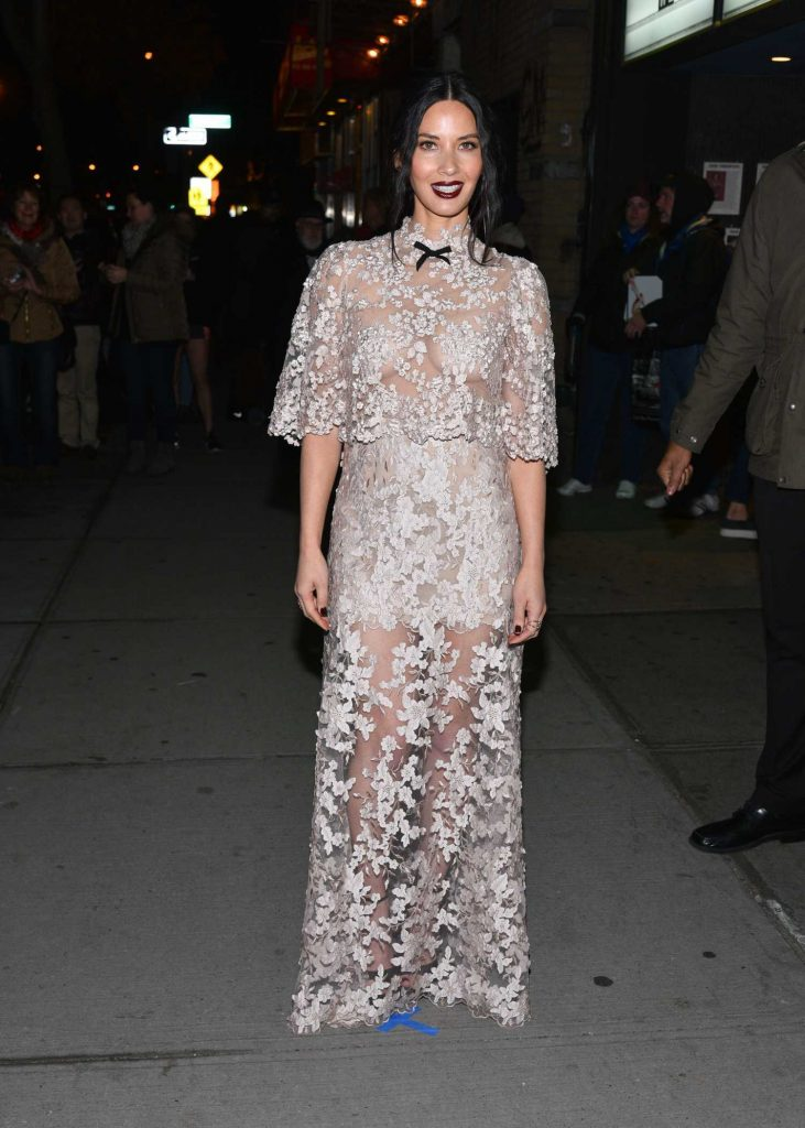 Olivia Munn at Office Christmas Party Screening in New York City-1