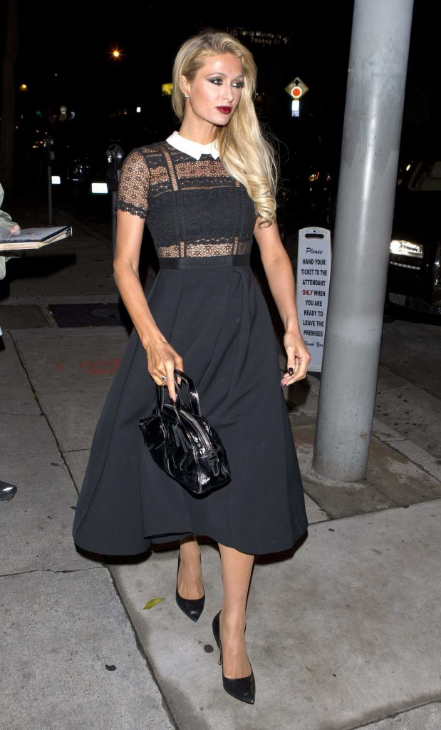 Paris Hilton Arrives at Craigs Restaurant in West Hollywood-1