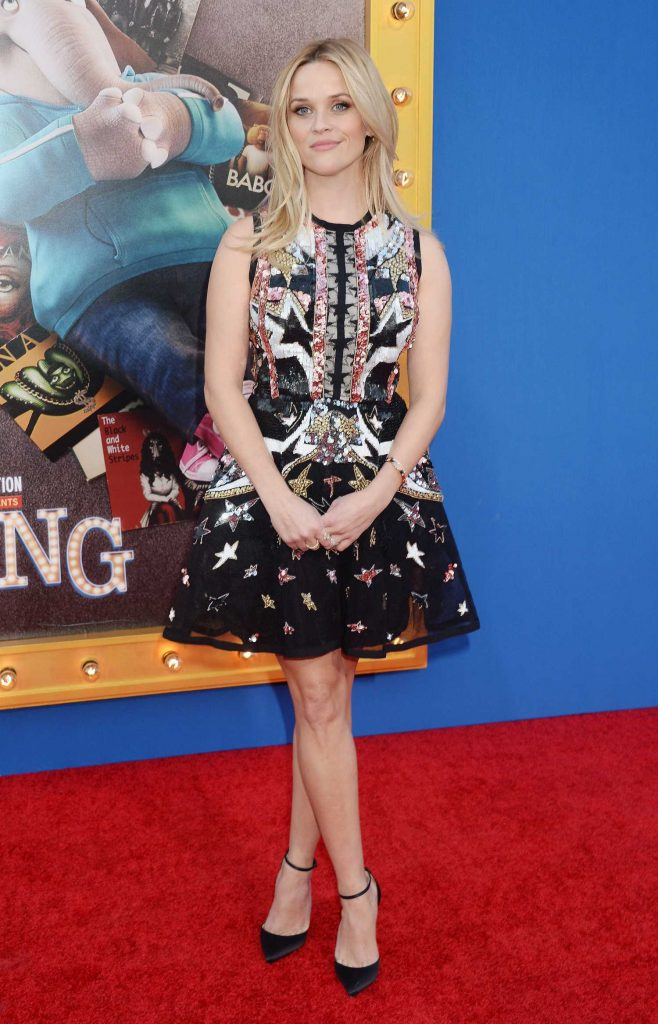 Reese Witherspoon at the Sing Premiere in Los Angeles-1