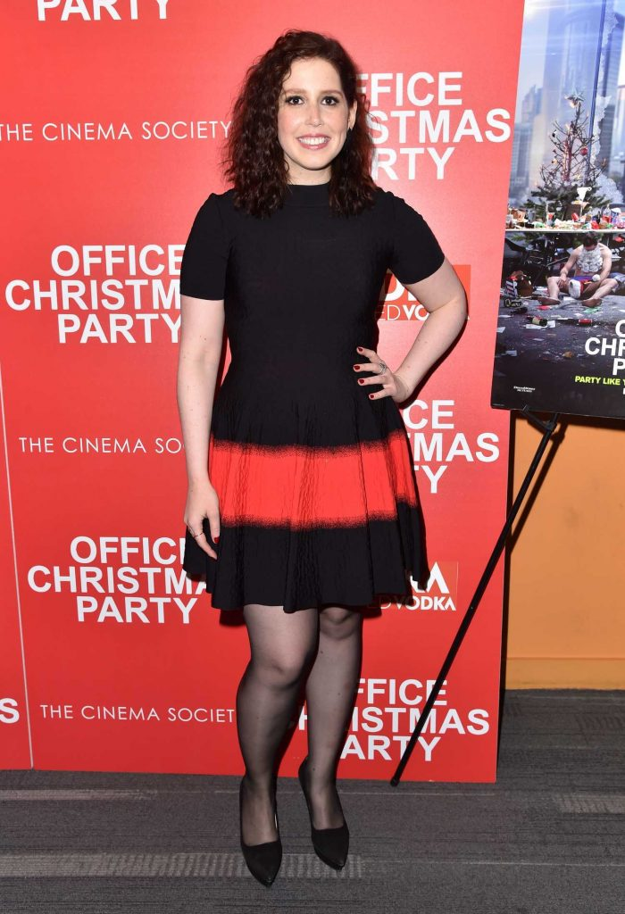 Vanessa Bayer at Office Christmas Party Screening in New York City-1