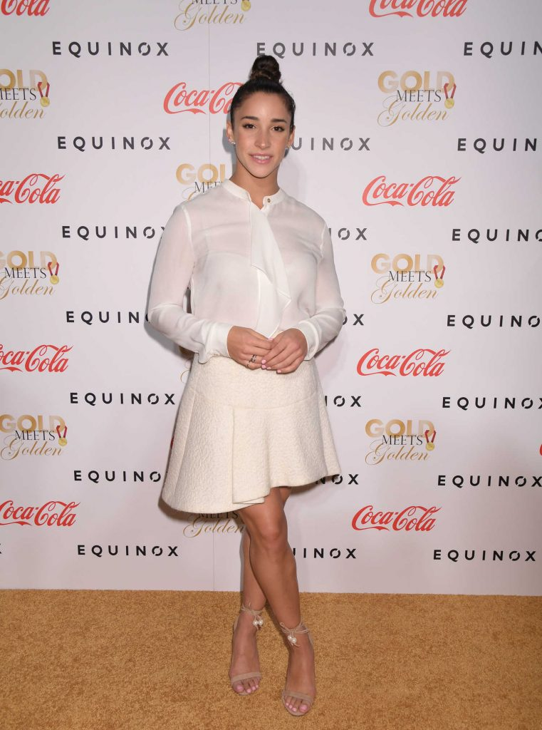 Aly Raisman at the Life is Good at Gold Meets Golden Event in Los Angeles-3