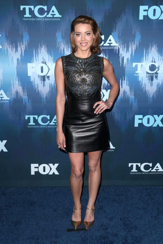 Aubrey Plaza at the FOX All-Star Party During the 2017 Winter TCA Tour in Pasadena-1