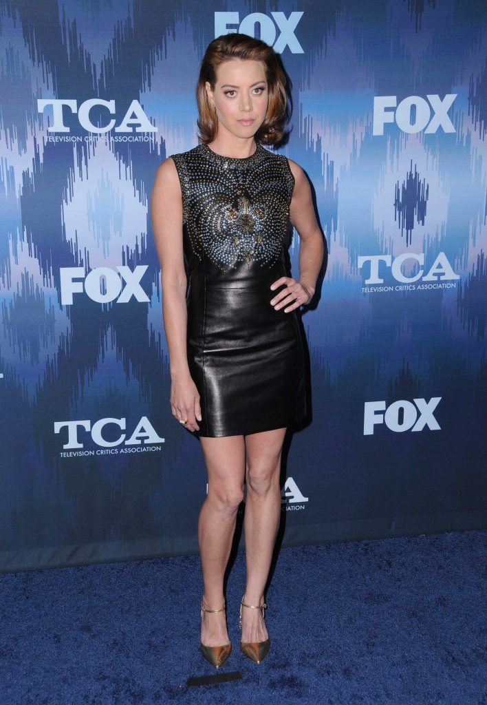 Aubrey Plaza at the FOX All-Star Party During the 2017 Winter TCA Tour in Pasadena-2