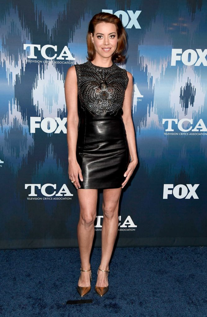 Aubrey Plaza at the FOX All-Star Party During the 2017 Winter TCA Tour in Pasadena-3