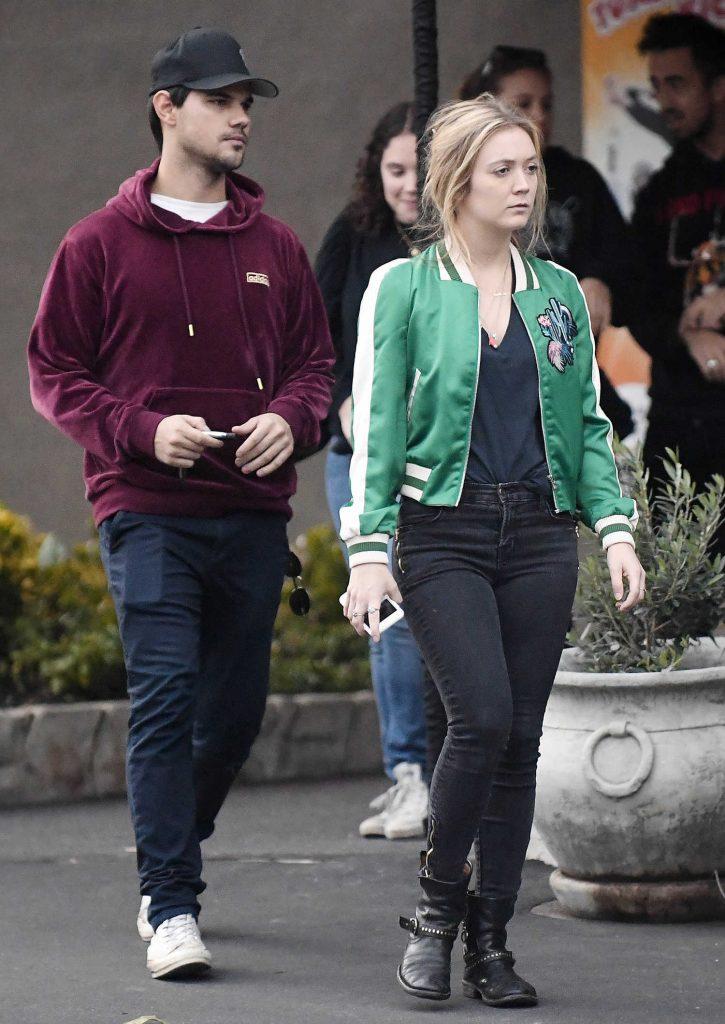 Billie Lourd Was Seen With Taylor Lautner at Pinz in Studio City-3