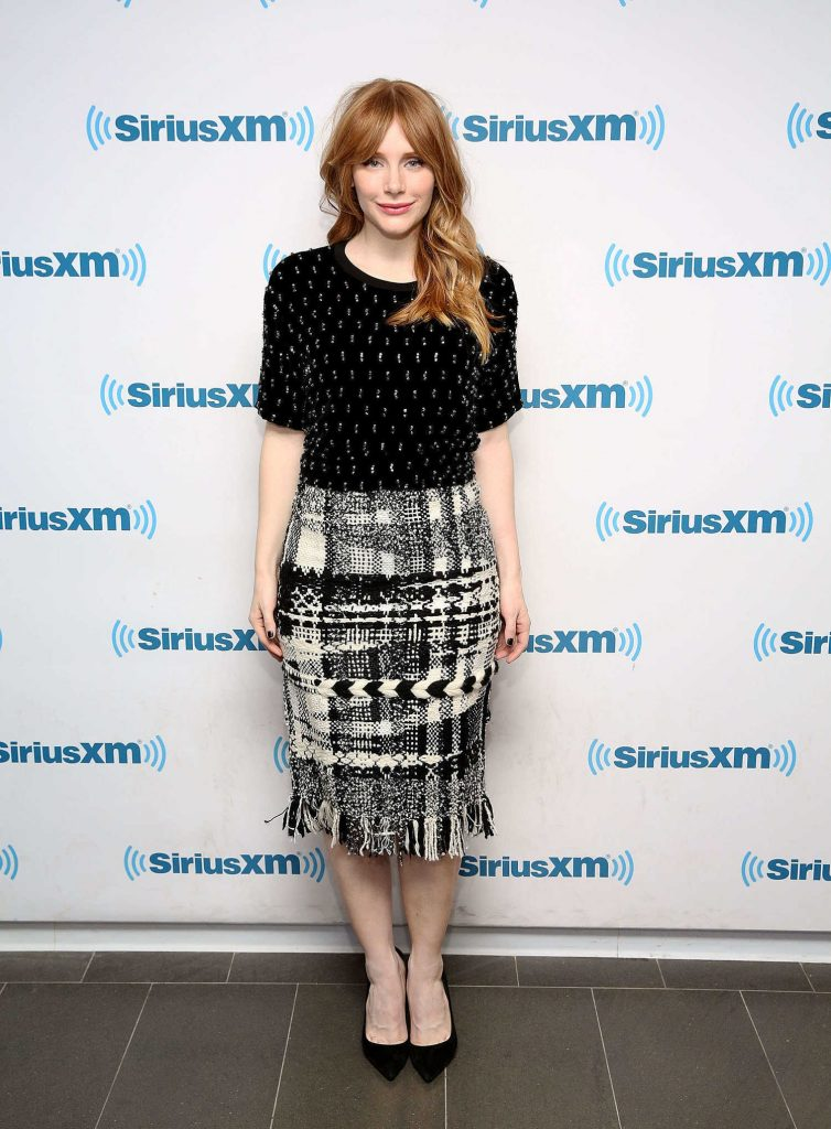 Bryce Dallas Howard at SiriusXM Studios in New York City-1