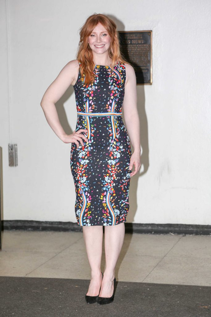 Bryce Dallas Howard at The Harry Talk Show in NYC-1