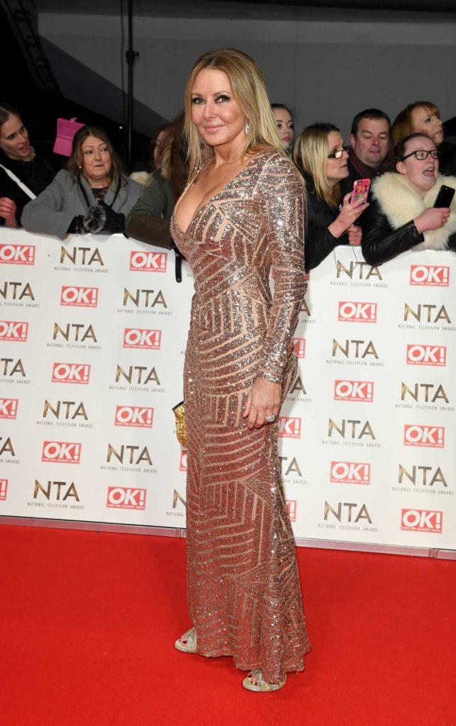 Carol Vorderman at the National Television Awards in London-2