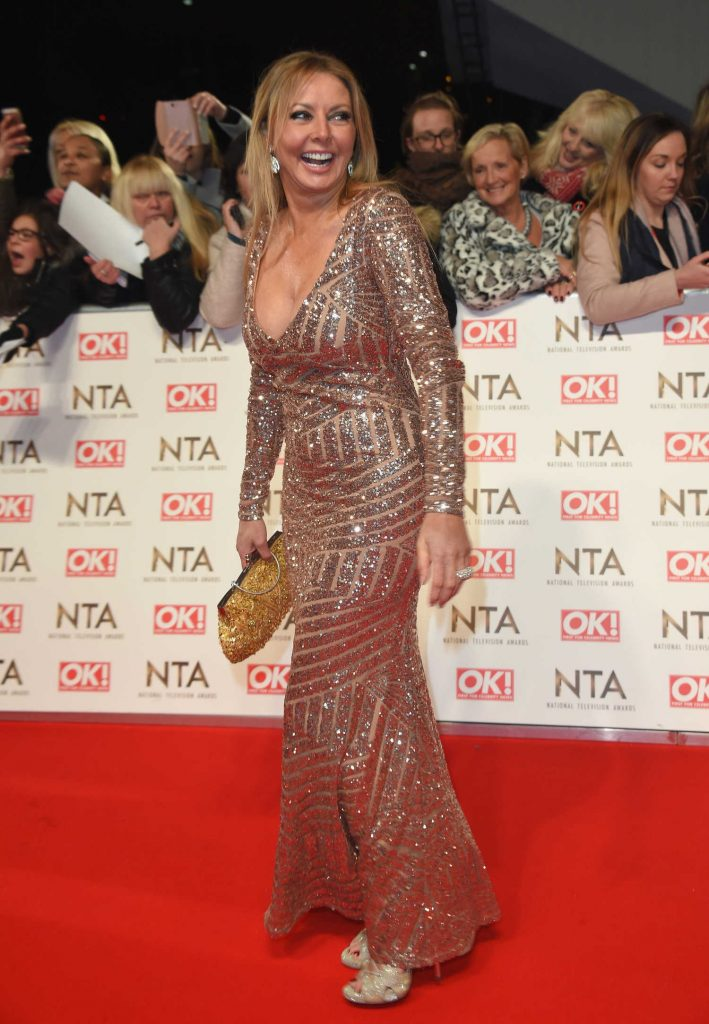 Carol Vorderman at the National Television Awards in London-3