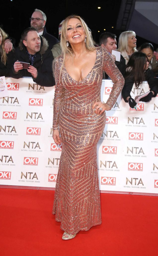 Carol Vorderman at the National Television Awards in London-4