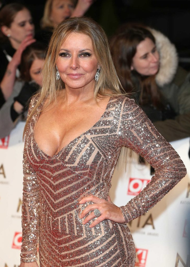 Carol Vorderman at the National Television Awards in London-5