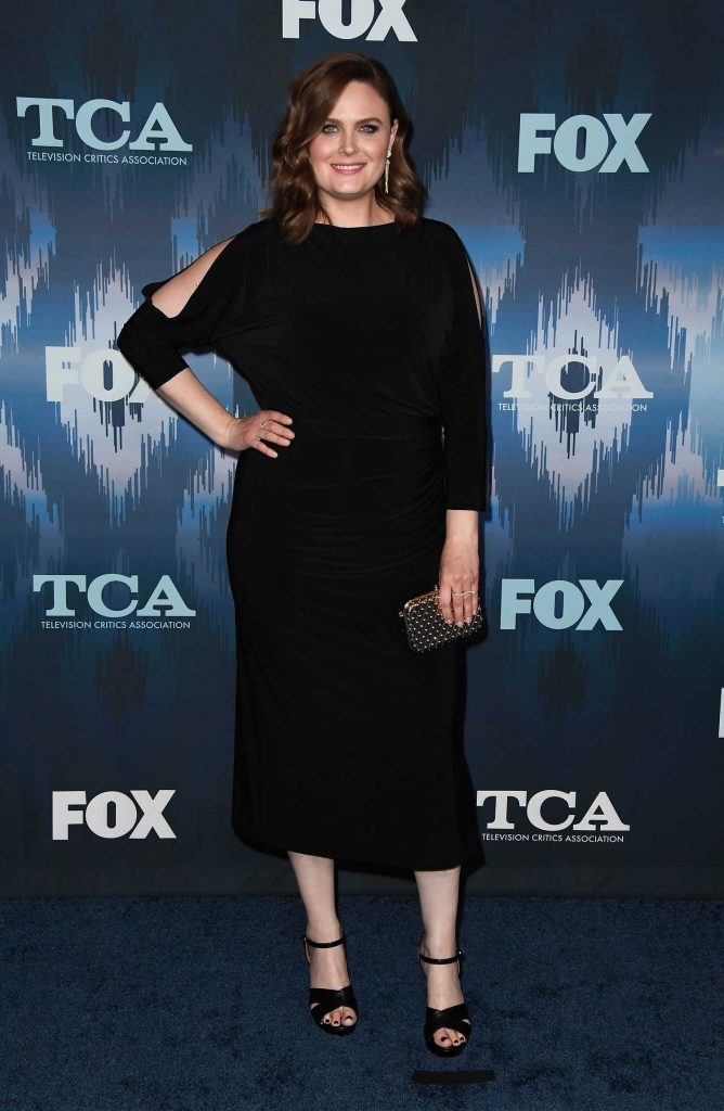 Emily Deschanel at the FOX All-Star Party During the 2017 Winter TCA Tour in Pasadena-1