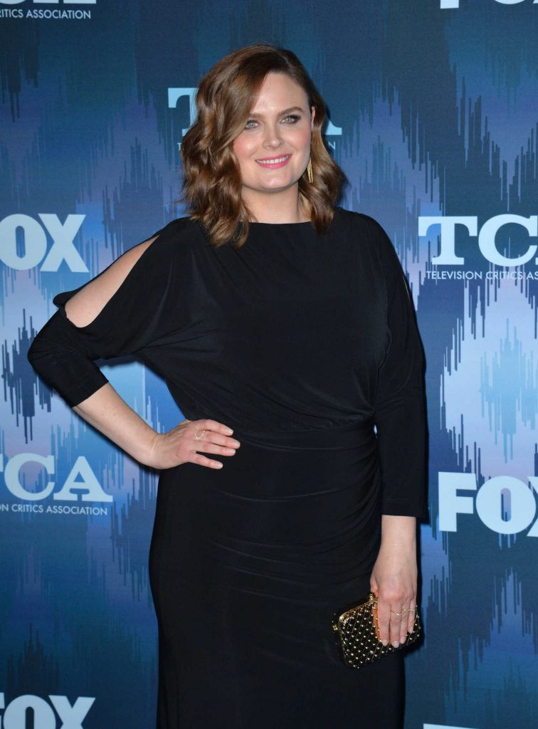 Emily Deschanel at the FOX All-Star Party During the 2017 Winter TCA Tour in Pasadena-3