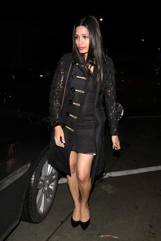 Freida Pinto Leaves Catch Restaurant in West Hollywood-1