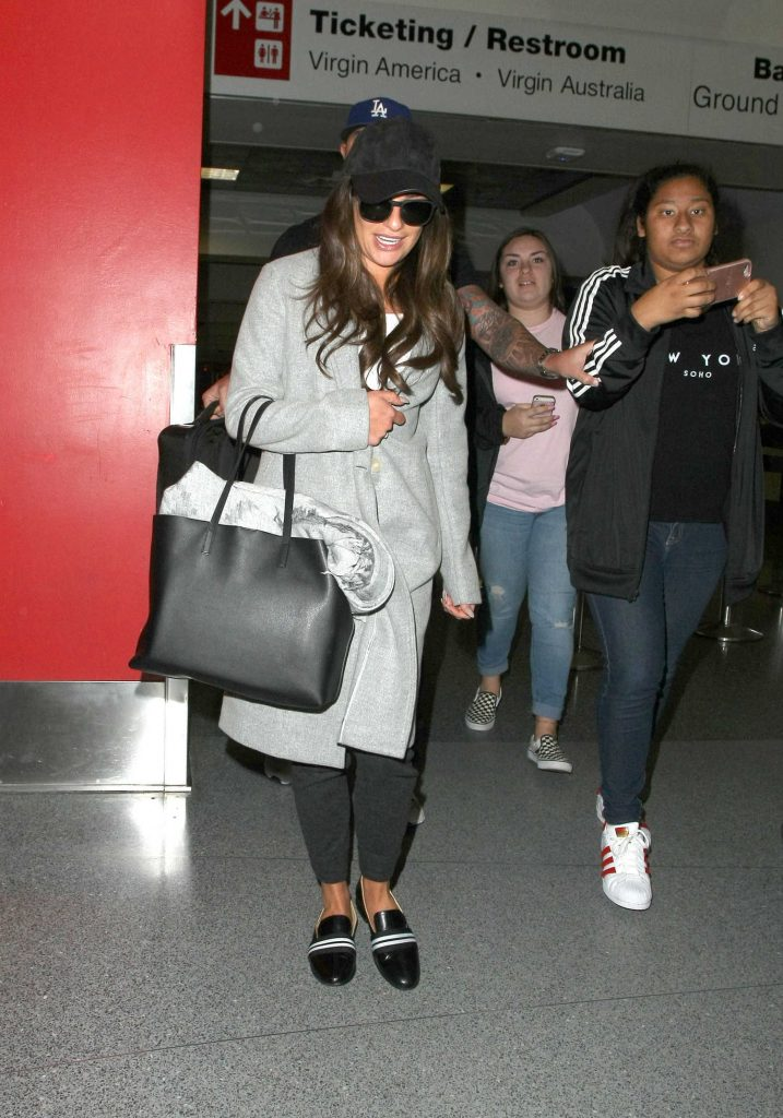 Lea Michele Arrives at LAX Airport in Los Angeles-1