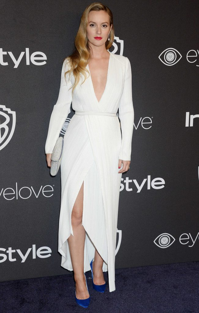 Leighton Meester at the 18th Annual InStyle Post-Golden Globes Party in Beverly Hills-1