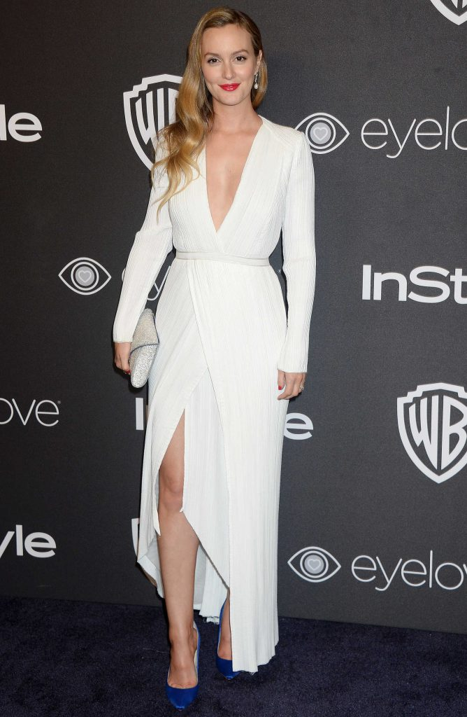 Leighton Meester at the 18th Annual InStyle Post-Golden Globes Party in Beverly Hills-2