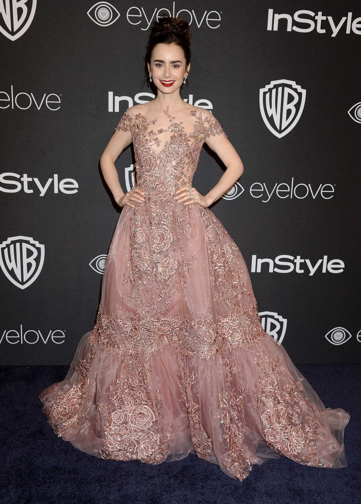 Lily Collins at the 18th Annual InStyle Post-Golden Globes Party in Beverly Hills-1