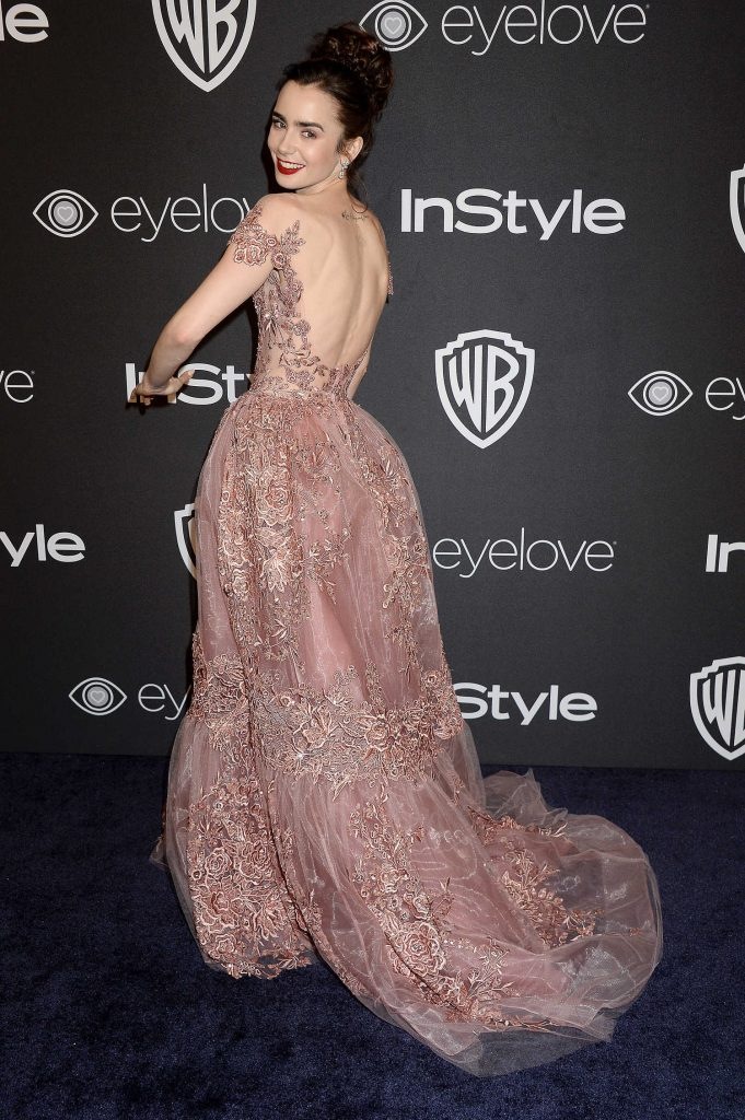 Lily Collins at the 18th Annual InStyle Post-Golden Globes Party in Beverly Hills-2