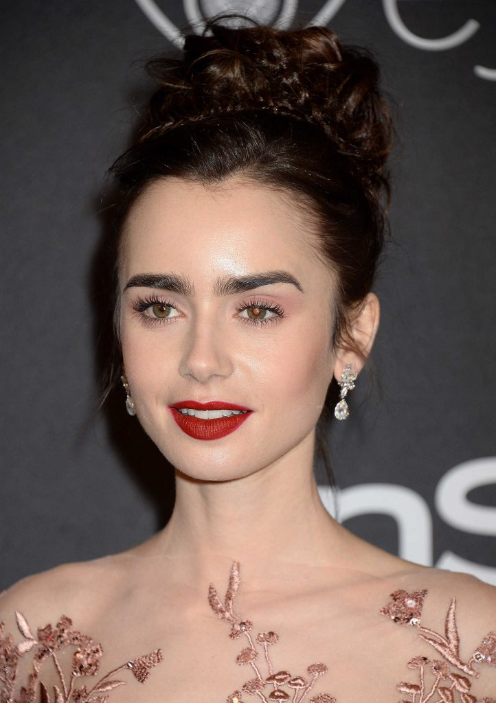 Lily Collins at the 18th Annual InStyle Post-Golden Globes Party in Beverly Hills-3