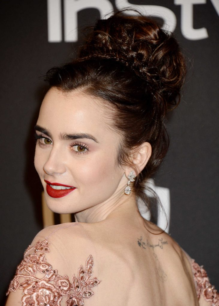 Lily Collins at the 18th Annual InStyle Post-Golden Globes Party in Beverly Hills-4