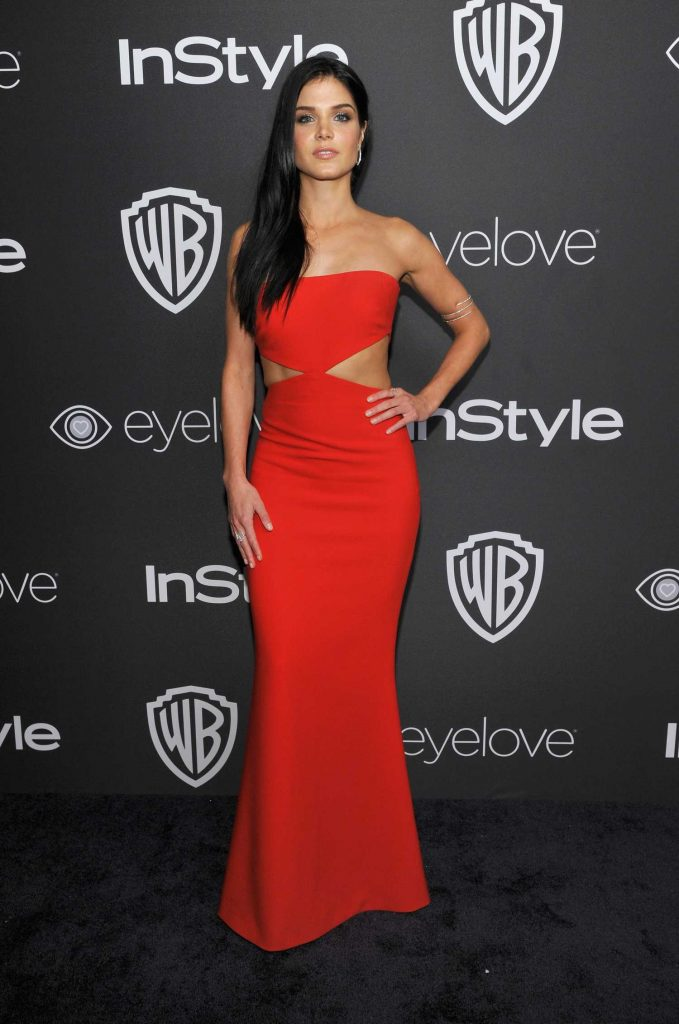 Marie Avgeropoulos at the 18th Annual InStyle Post-Golden Globes Party in Beverly Hills-1