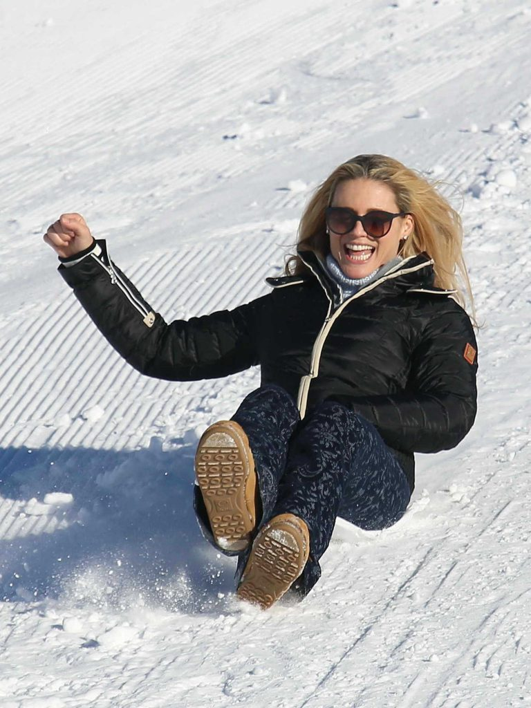 Michelle Hunziker Was Seen Out in Pontresina, Switzerland-1