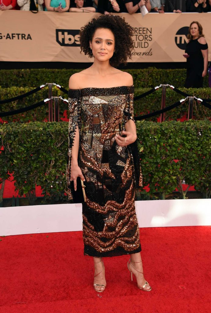 Nathalie Emmanuel at the 23rd Annual Screen Actors Guild Awards in Los Angeles-2