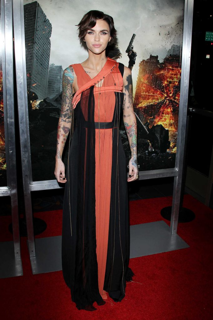 Ruby Rose at the Resident Evil: The Final Chapter Premiere at the Regal Cinema in Los Angeles-1