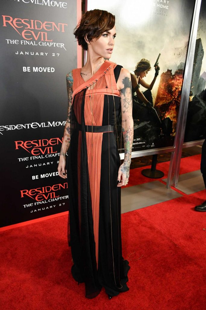 Ruby Rose at the Resident Evil: The Final Chapter Premiere at the Regal Cinema in Los Angeles-2