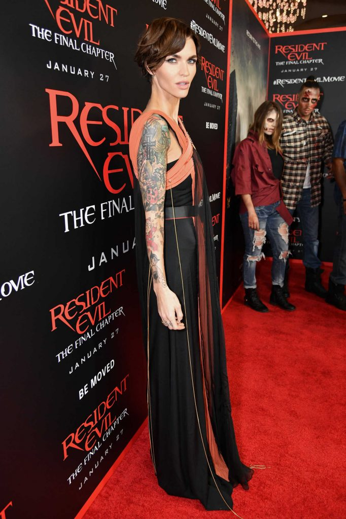 Ruby Rose at the Resident Evil: The Final Chapter Premiere at the Regal Cinema in Los Angeles-3