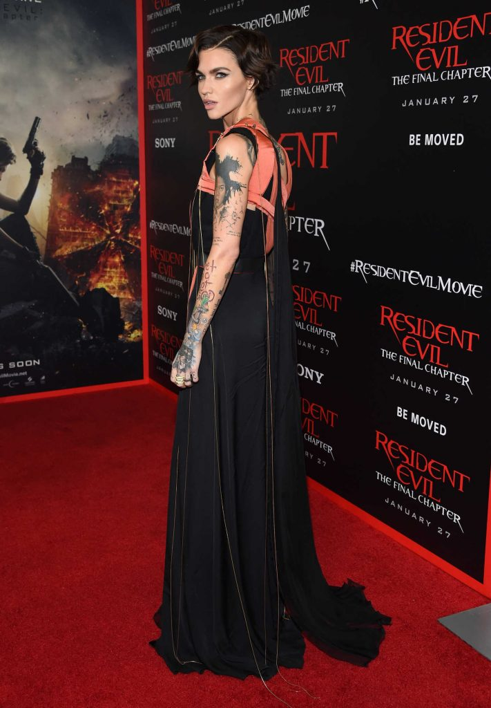 Ruby Rose at the Resident Evil: The Final Chapter Premiere at the Regal Cinema in Los Angeles-5