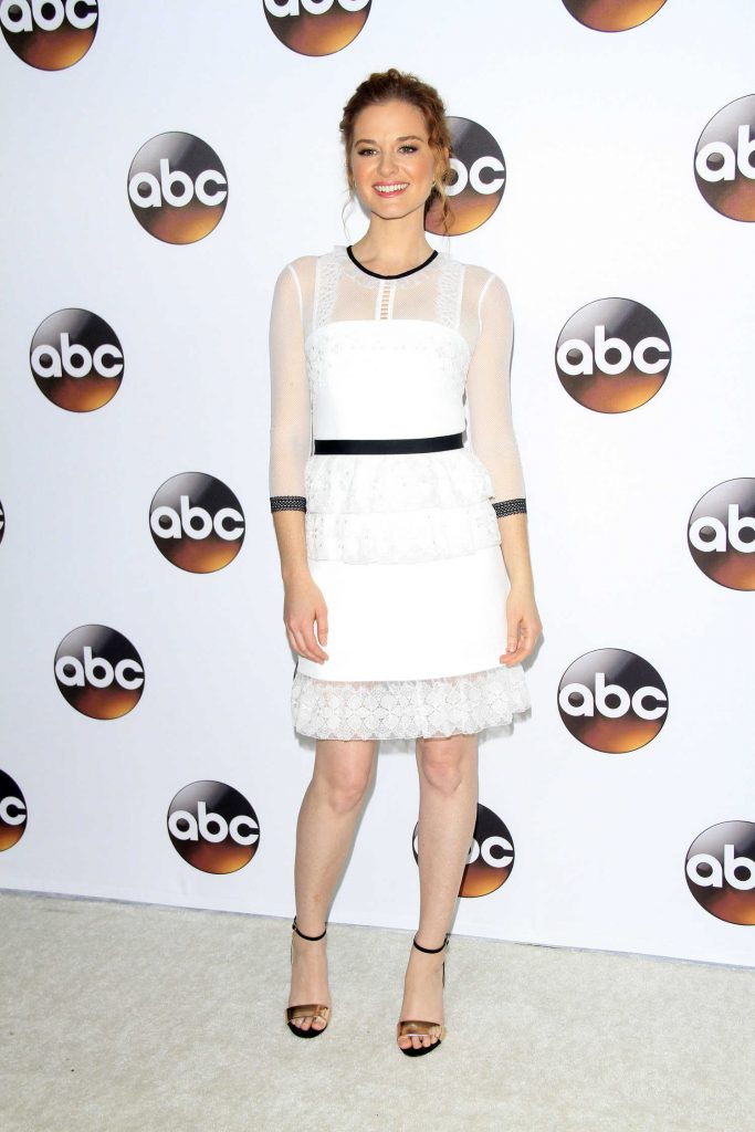 Sarah Drew at the Disney ABC Television Hosts TCA Winter Press Tour in Pasadena-1