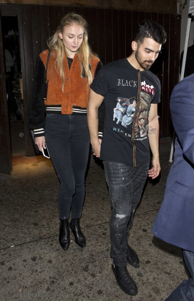 Sophie Turner Leaves a Jonas Brothers Private Party in West Hollywood With Joe Jonas-1