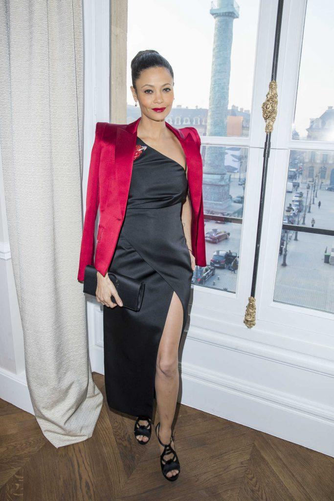 Thandie Newton at the 2017 Schiaparelli Haute Couture Show in Paris-1