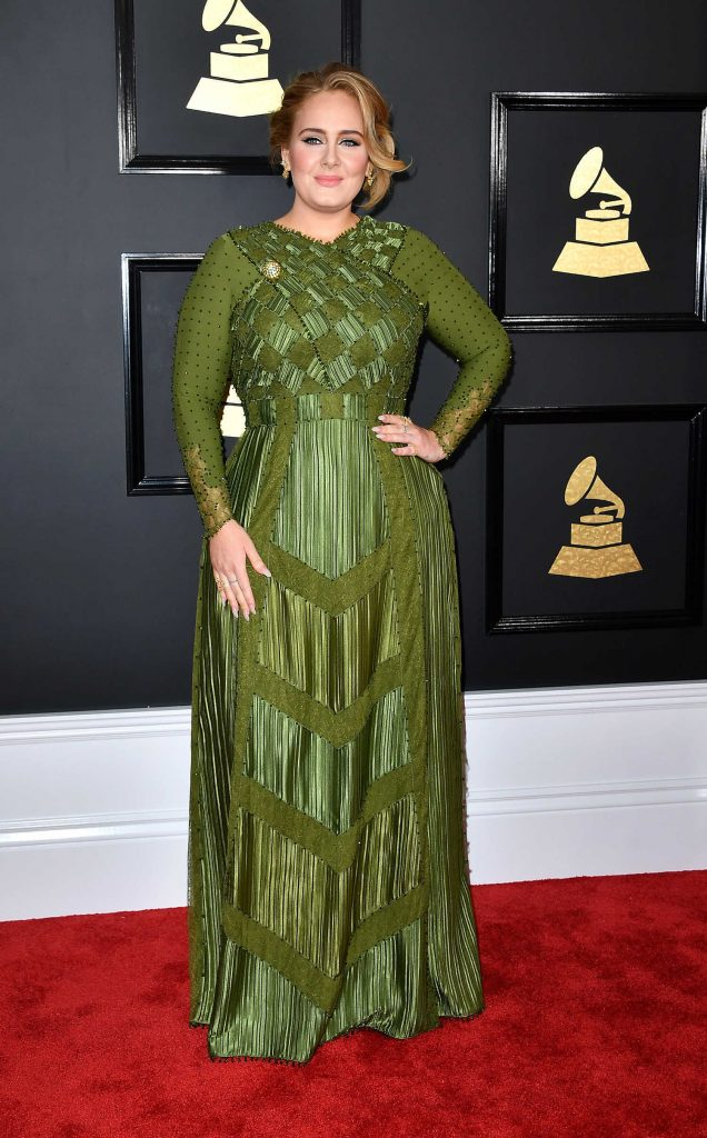Adele at the 59th Grammy Awards in Los Angeles-1