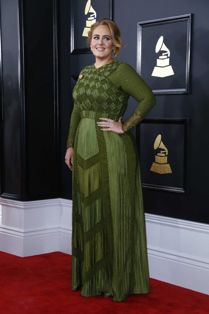Adele at the 59th Grammy Awards in Los Angeles-2