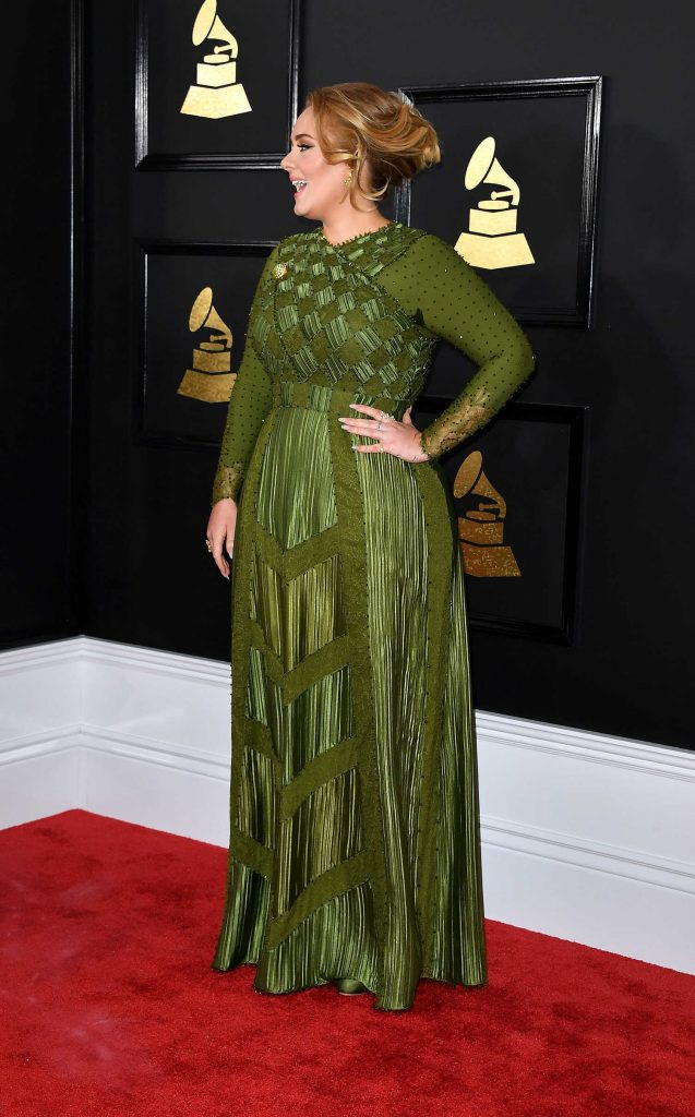 Adele at the 59th Grammy Awards in Los Angeles-3