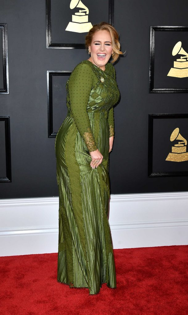 Adele at the 59th Grammy Awards in Los Angeles-4