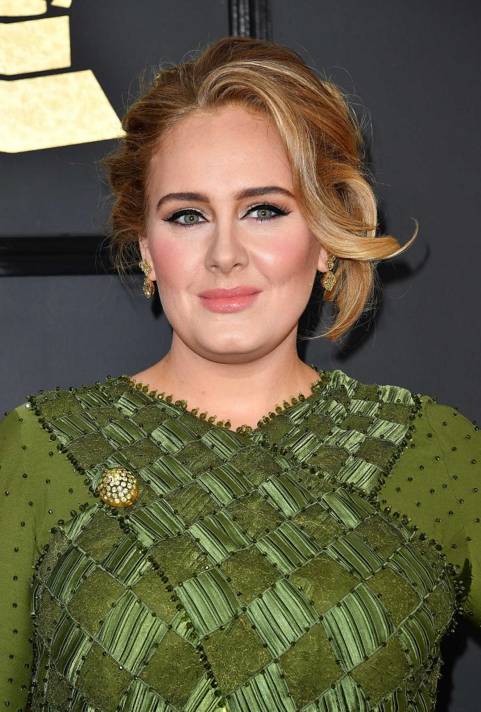 Adele at the 59th Grammy Awards in Los Angeles-5