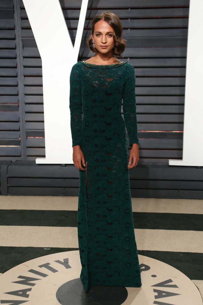 Alicia Vikander at the 2017 Vanity Fair Oscar Party in Beverly Hills-1