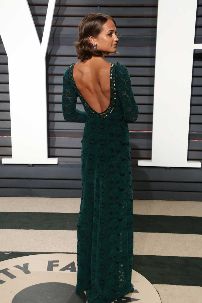 Alicia Vikander at the 2017 Vanity Fair Oscar Party in Beverly Hills-2