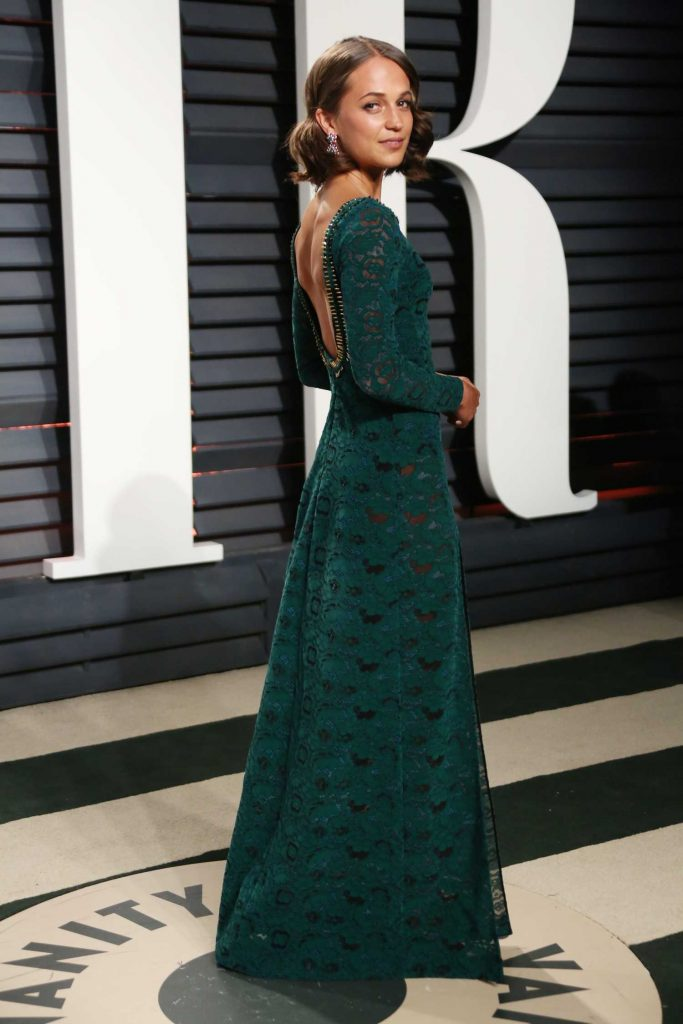 Alicia Vikander at the 2017 Vanity Fair Oscar Party in Beverly Hills-3