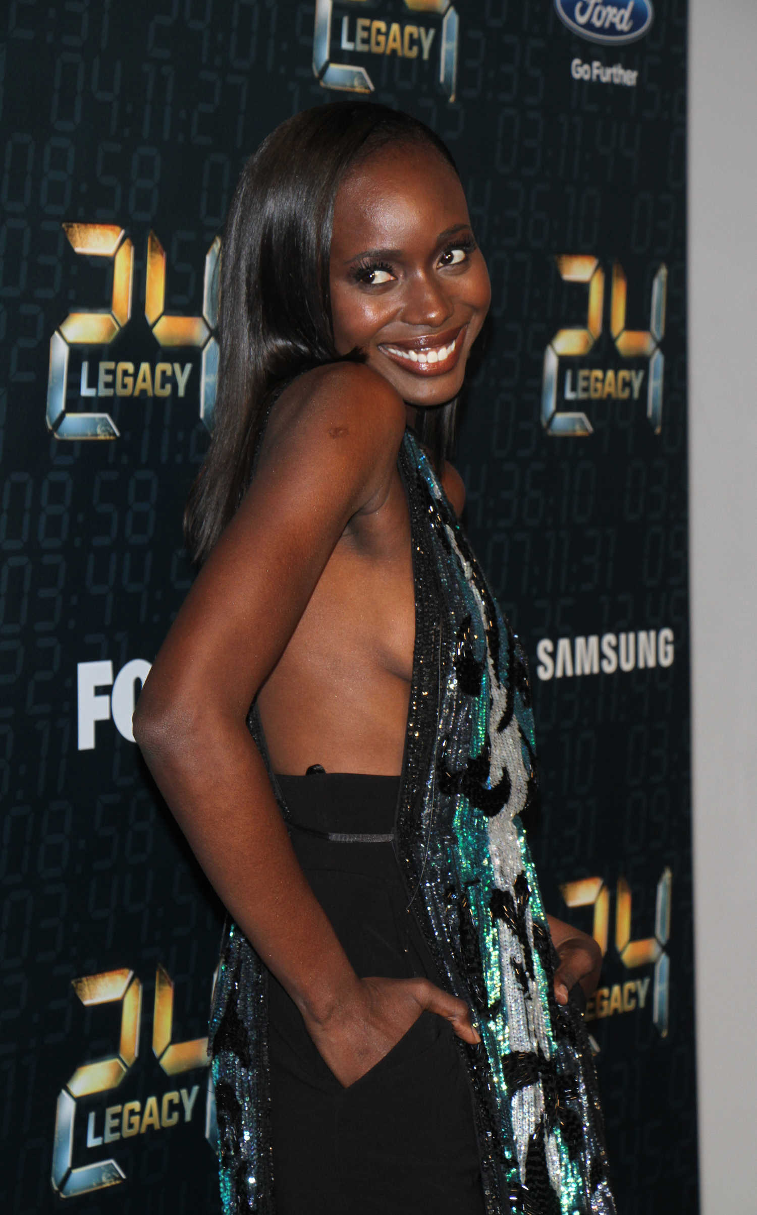 diop at the 24 legacy tv show premiere in new york celeb donut