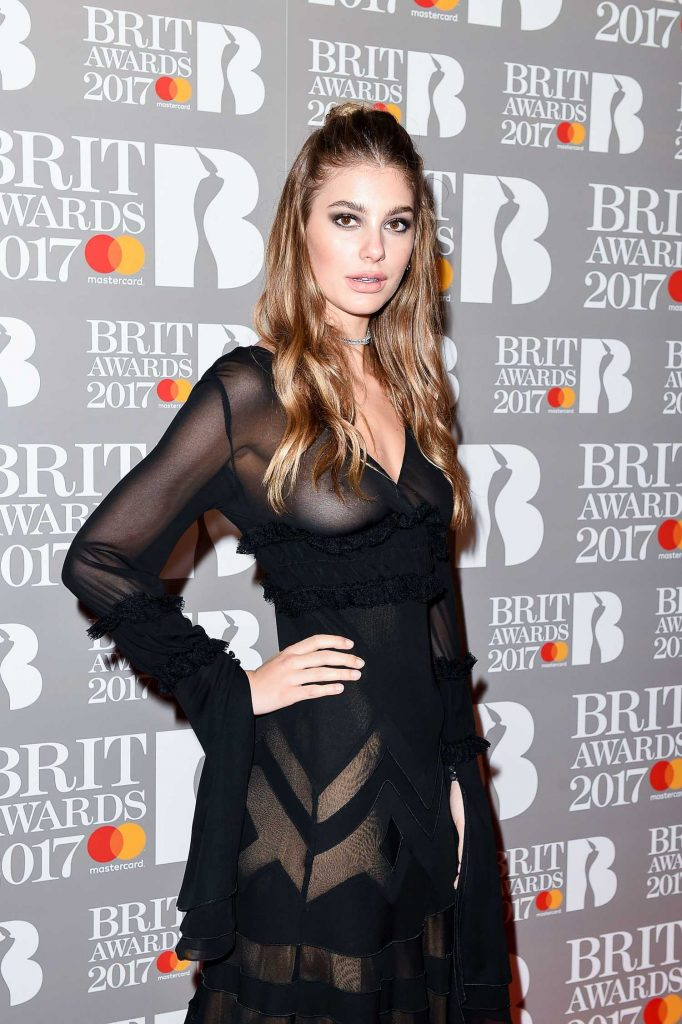 Camila Morrone at the Brit Awards at O2 Arena in London-1