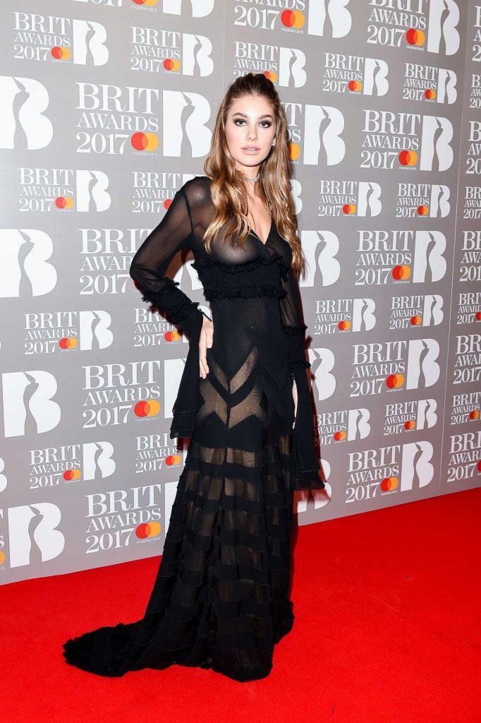 Camila Morrone at the Brit Awards at O2 Arena in London-2