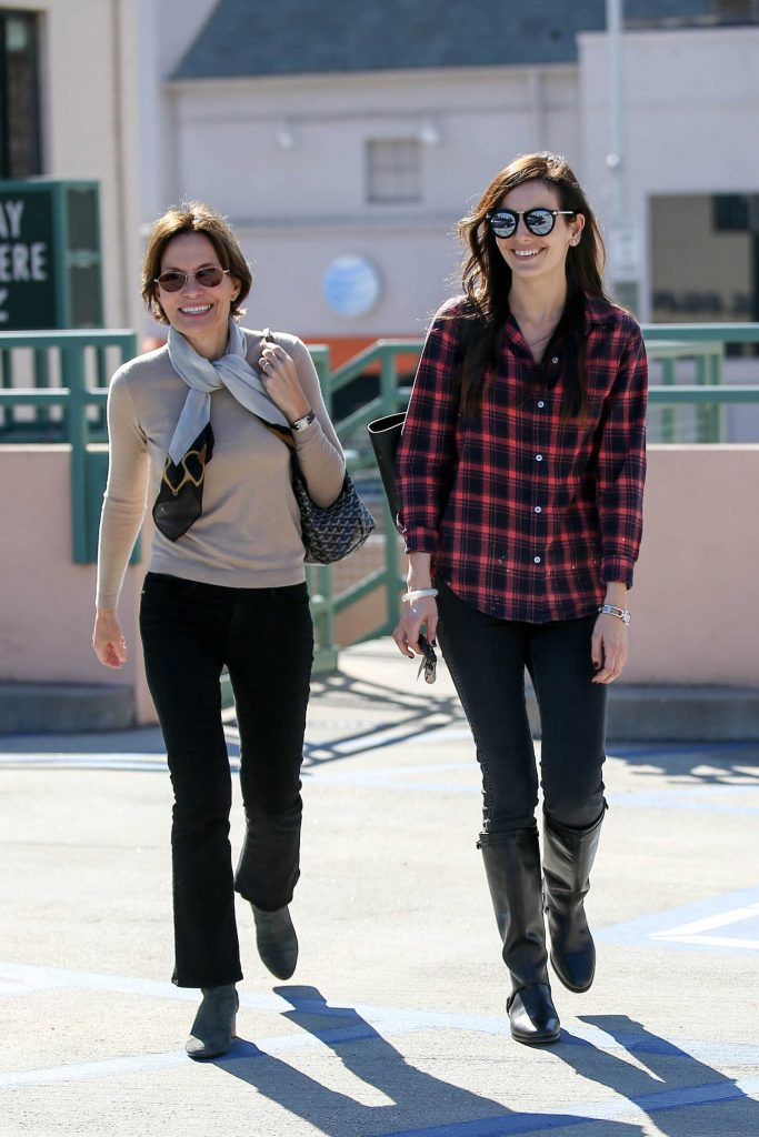 Camilla Belle Was Siin in a Plaid Shirt in Beverly Hills-4